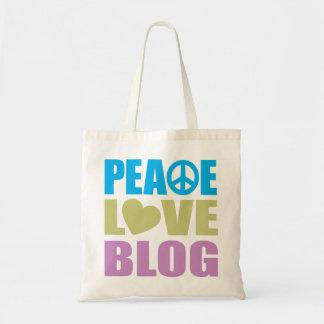 Peace Love Blog Budget Tote Bag