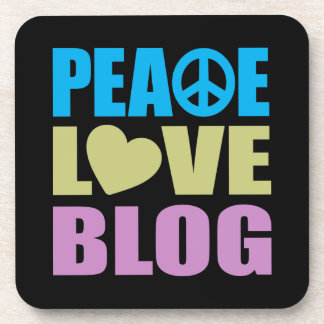 Peace Love Blog Beverage Coaster