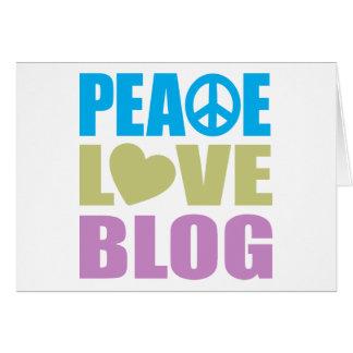 Peace Love Blog Card