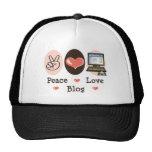 Peace Love Blog Hat