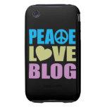 Peace Love Blog iPhone 3 Tough Case