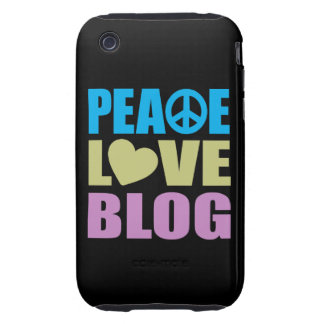 Peace Love Blog iPhone 3 Tough Cover