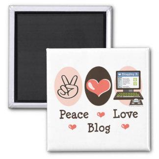 Peace Love Blog Magnet