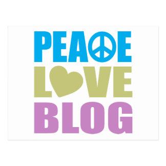 Peace Love Blog Postcard