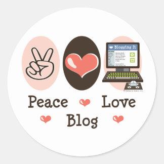 Peace Love Blog Sticker