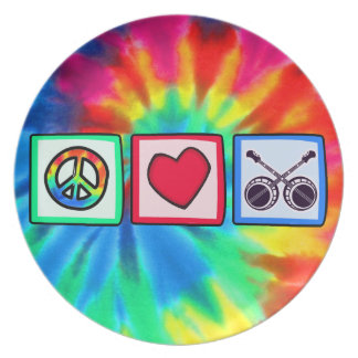 Peace, Love, Bluegrass Party Plate