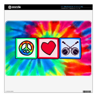 Peace, Love, Bluegrass Decal For The MacBook Air