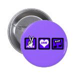 Peace love blues button