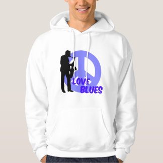 Peace love blues hoodie