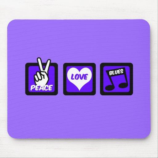 Peace love blues mouse pads
