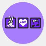 Peace love blues sticker