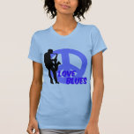 Peace love blues t shirt