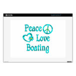 "Peace Love Boating 15"" Laptop Skins"