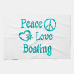 Peace Love Boating Hand Towel