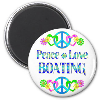 Peace Love Boating Magnets