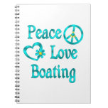 Peace Love Boating Notebook