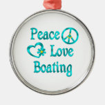 Peace Love Boating Ornaments
