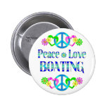 Peace Love Boating Pinback Buttons