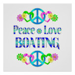 Peace Love Boating Poster