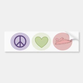 Peace Love Boats Bumper Sticker