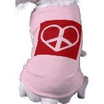 Peace Love Bob Doggie Tee Shirt