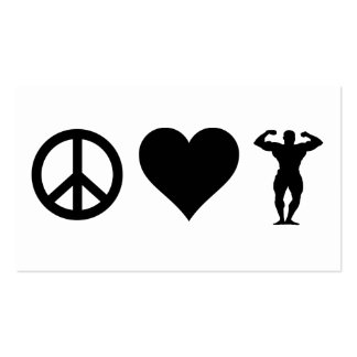 Peace Love Bodybuilding Business Card