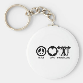 Peace Love Bodybuilding Key Chains