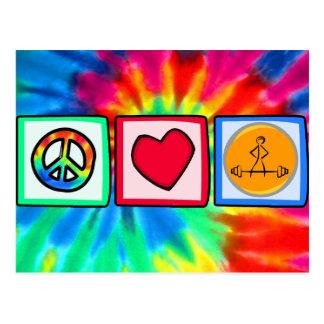 Peace, Love, Bodybuilding Postcard