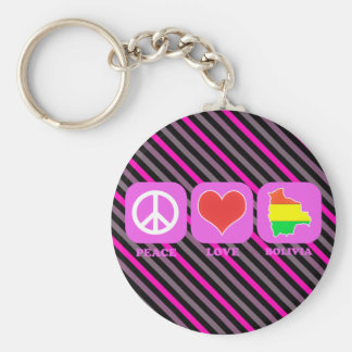 Peace Love Bolivia Key Chain