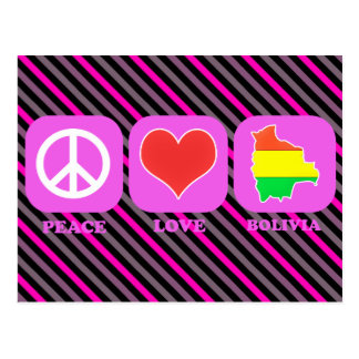 Peace Love Bolivia Postcard