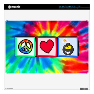 Peace, Love, Bombs Skin For MacBook