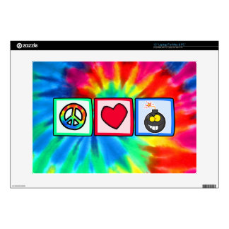 "Peace, Love, Bombs Decals For 15"" Laptops"
