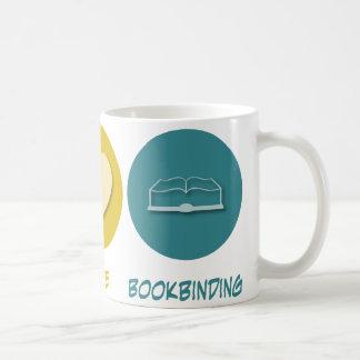 Peace Love Bookbinding Mug