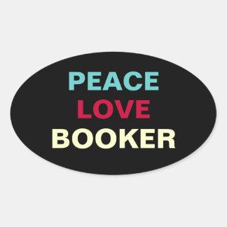 Peace Love Booker Oval Campaign Sticker