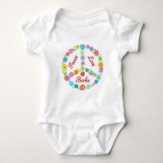 Peace Love Books Baby Bodysuit
