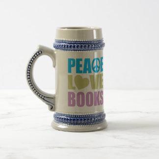 Peace Love Books Coffee Mugs