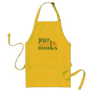 Peace Love Books II Adult Apron