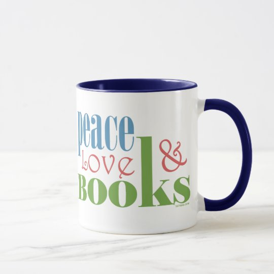 Peace Love Books II Mug