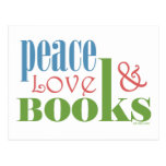 Peace Love Books II Postcard