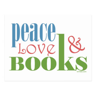 Peace Love Books II Postcard