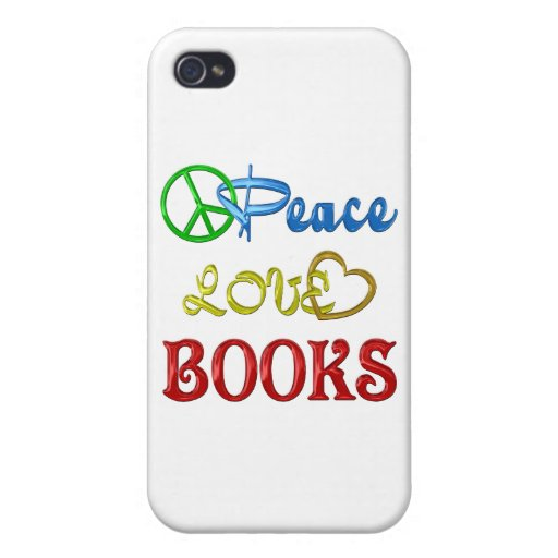 PEACE LOVE BOOKS iPhone 4 COVER