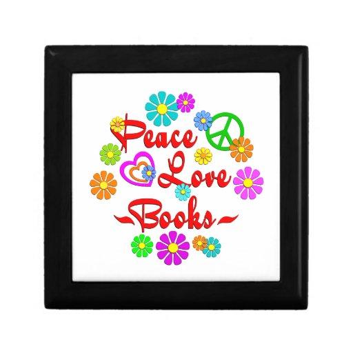 Peace Love Books Keepsake Box
