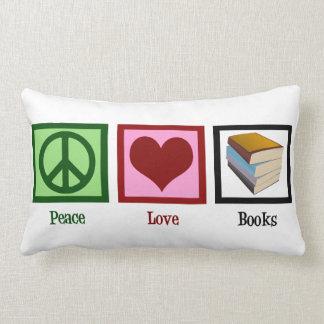 Peace Love Books Lumbar Pillow