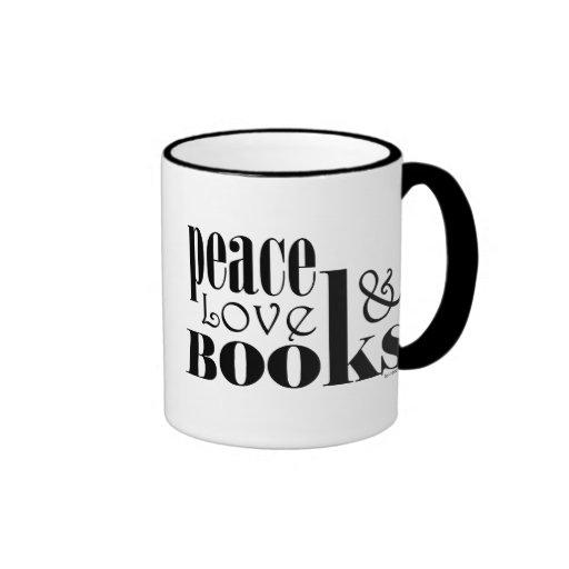 Peace Love Books Mugs