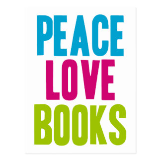 Peace Love Books Postcard