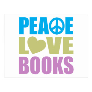 Peace Love Books Postcards