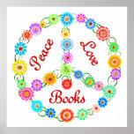 Peace Love Books Print
