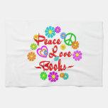 Peace Love Books Towels