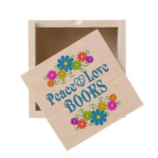 Peace Love Books Wooden Keepsake Box