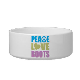 Peace Love Boots Bowl